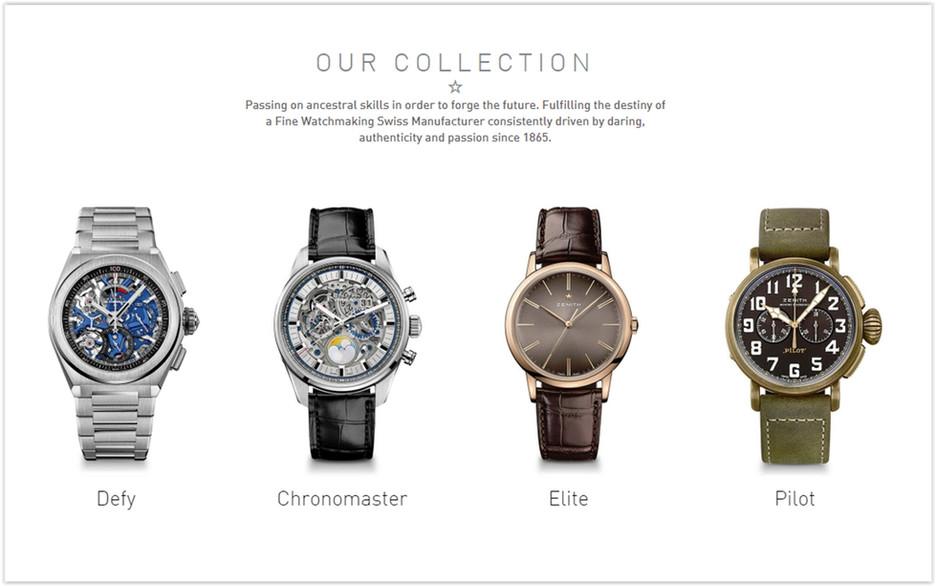 The ZenithOnline Watch Store