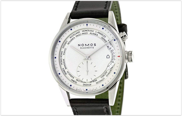 Nomos Zurich Weltzeit Black Leather
