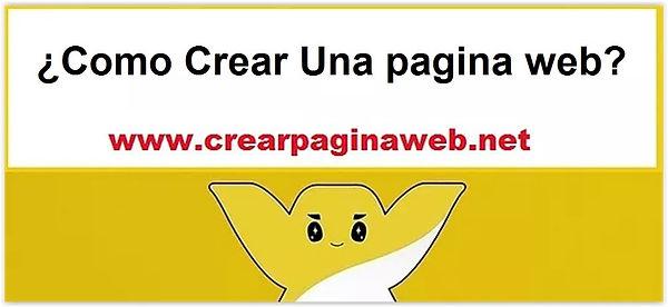 ¿Como Crear Una pagina web?