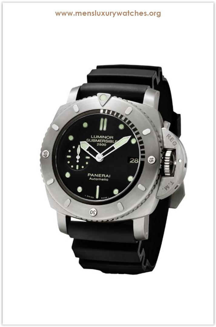 Panerai Luminor Submersible 1950 Black Dial Black Rubber Men's Watch Price
