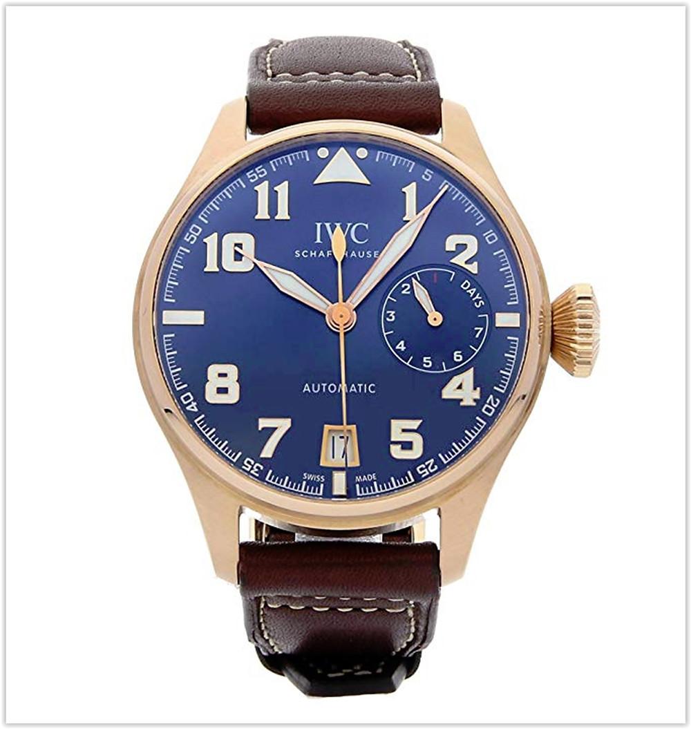 IWC Pilot Mechanical (Automatic) Blue Dial Men's Watch best price