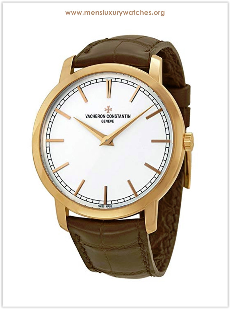 Vacheron Constantin RG Patrimony Traditionnelle Automatic Silver Dial Brown Leather Men's Watch Price