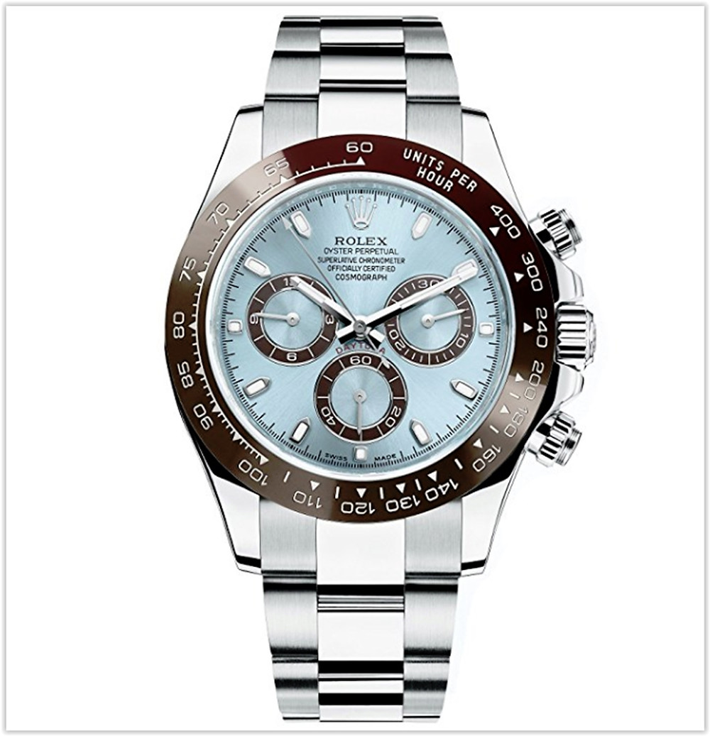 Rolex Daytona Platinum Watch Ice Blue Ceramic 116506 Unworn best price