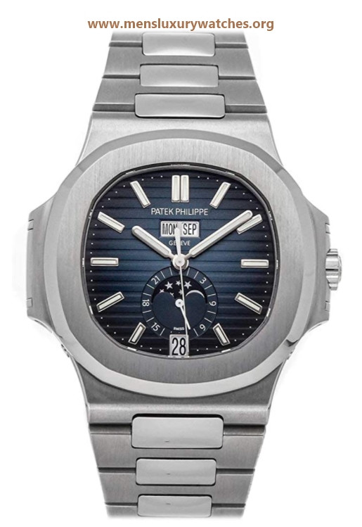 Patek Philippe Nautilus Mechanical(Automatic) Blue Dial Watch 57261A-014 (Pre-Owned)