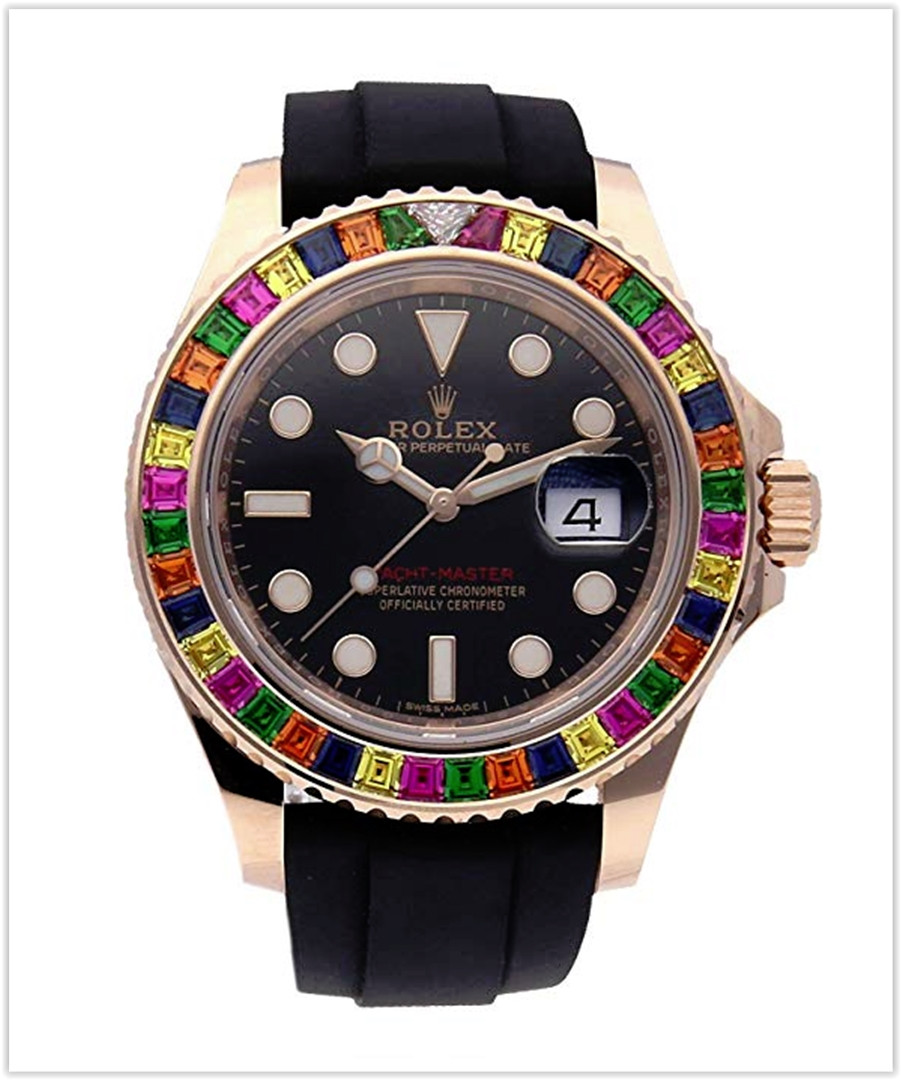 Rolex Yacht-Master Mechanical Black Dial Men's Watch