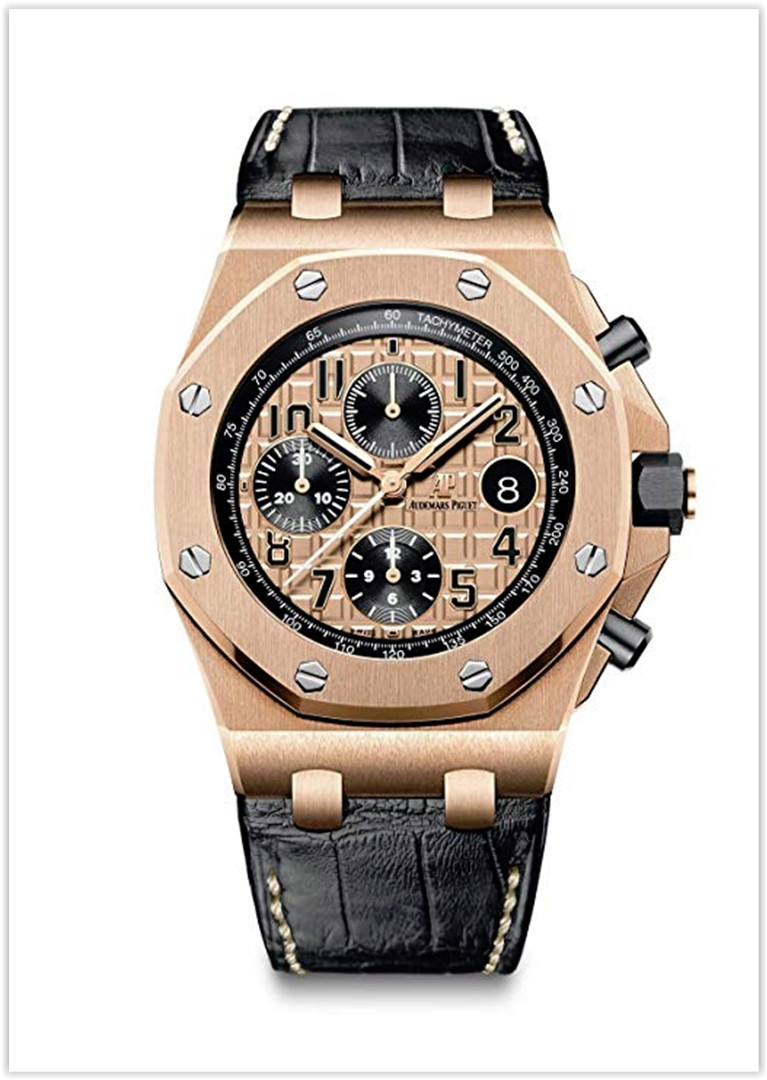 Audemars Piguet Royal Oak Offshore Chronograph 42mm Rose Gold Men's Watch Price