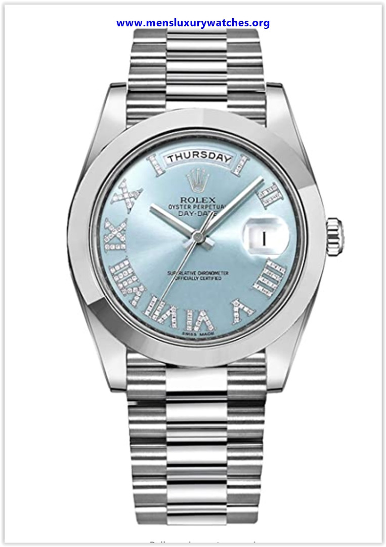 Best buy Men's Rolex Day-Date Platinum 41mm Watch with Diamond Roman Numeral Hour Markers