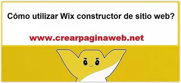 Cómo utilizar Wix constructor de sitio web?