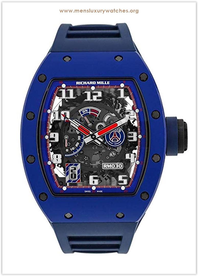 Richard Mille Ceramic Paris PSG Paris Saint-Germain Limited Edition Watch RM030