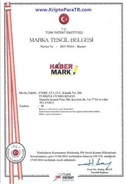 Emre Ata habermark TPE marka belgesi
