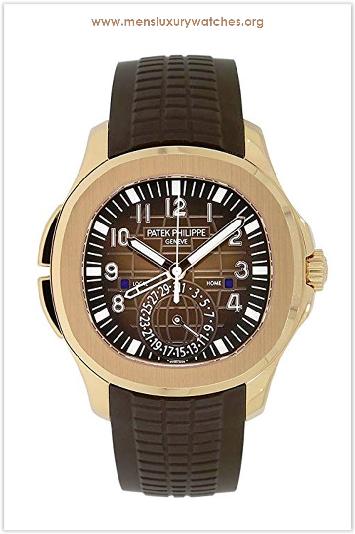 Patek Philippe Aquanaut Travel Time Rose Gold Chocolate Men's Watch 5164R-001 the best price