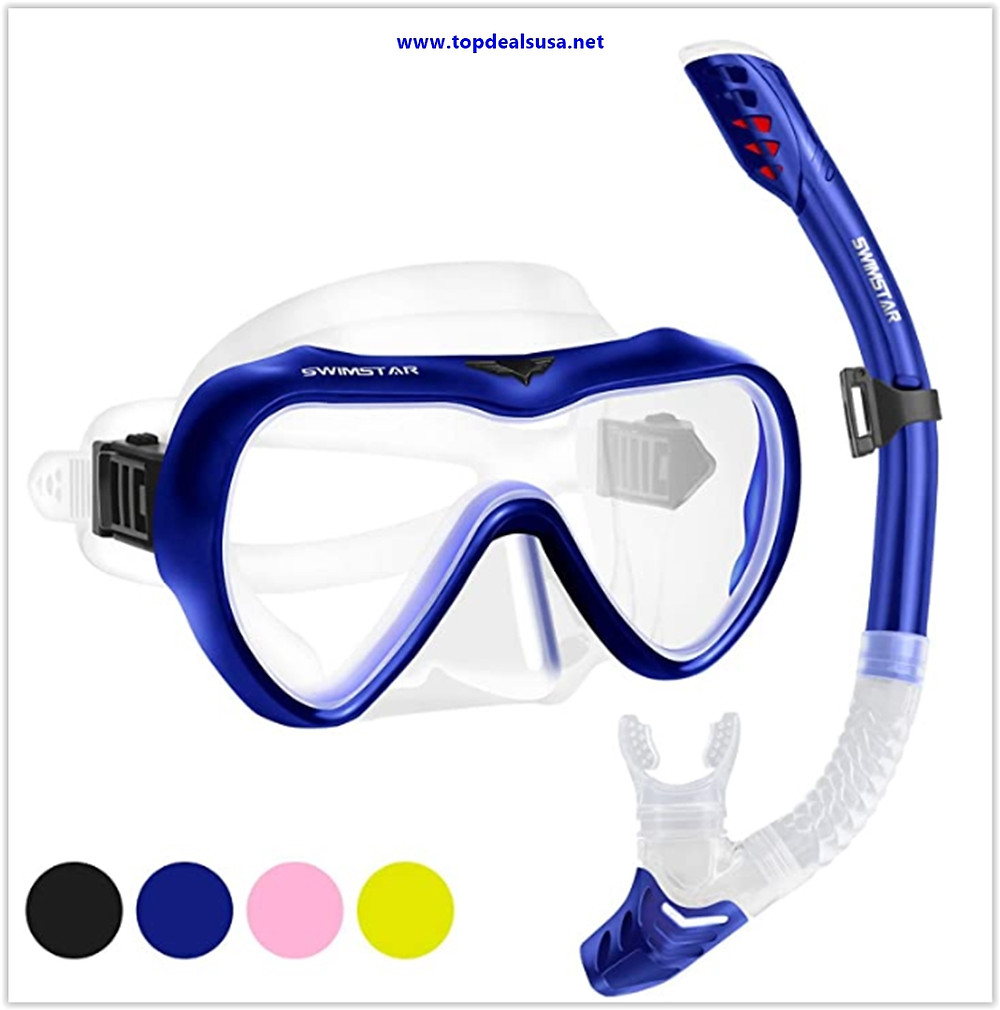 Best buy SwimStar Snorkel Set for Women and Men, Anti-Fog Tempered Glass Snorkel Mask for Snorkeling