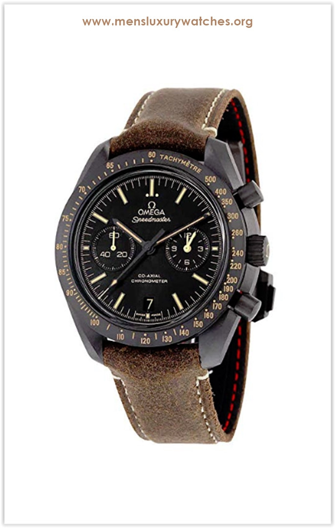 Omega Speedmaster Moonwatch Co-Axial Black Dial Chronograph Automatic Men's Watch Price