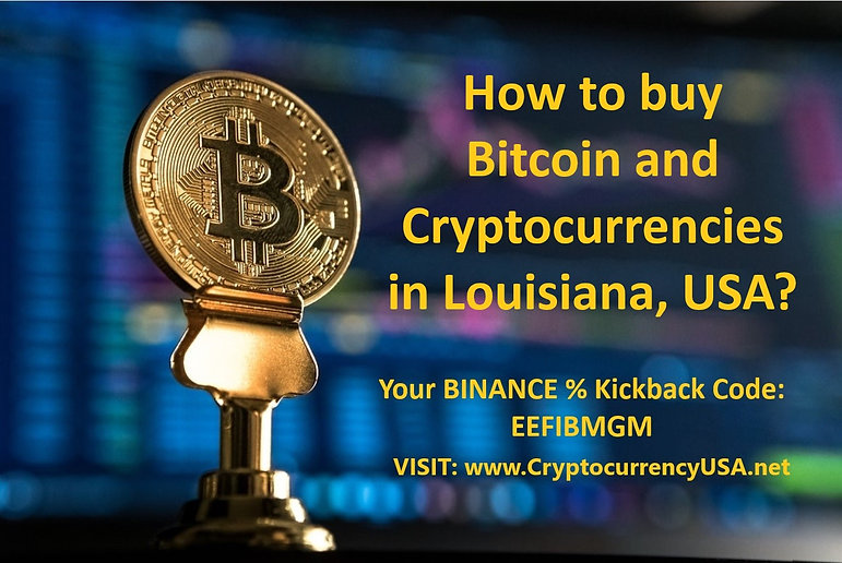 How to buy Bitcoin and cryptocurrencies in Louisiana, USA?