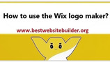 How to use the Wix logo maker? Step by step with pictures