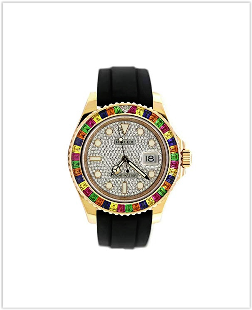 Rolex Rainbow Yacht Master EVEROSE Diamond Dial best price