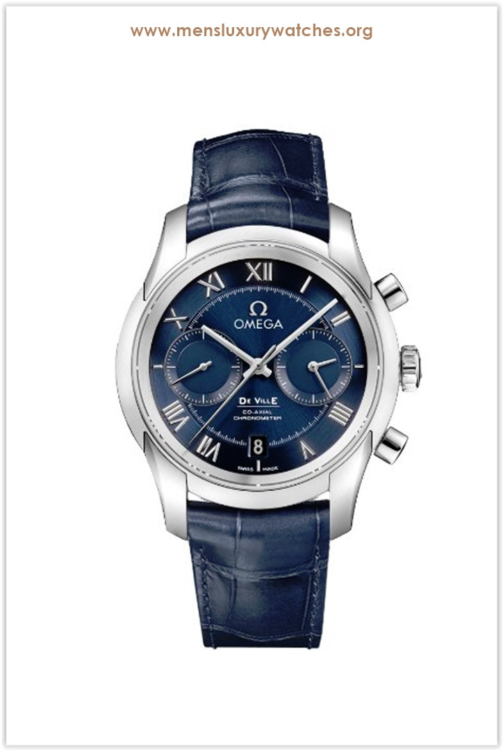 Omega De Ville Blue Dial Blue Leather Men's Watch Price