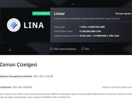 LINEAR Finance (Lina) Binance'de Listeleniyor, Nasıl alınır?