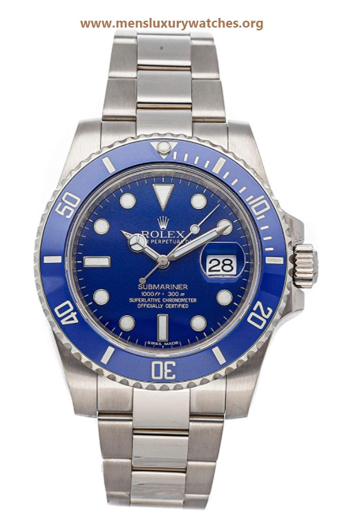 Rolex Submariner Mechanical (Automatic) Blue Dial Mens Watch 116619LB (Certified Pre-Owned)