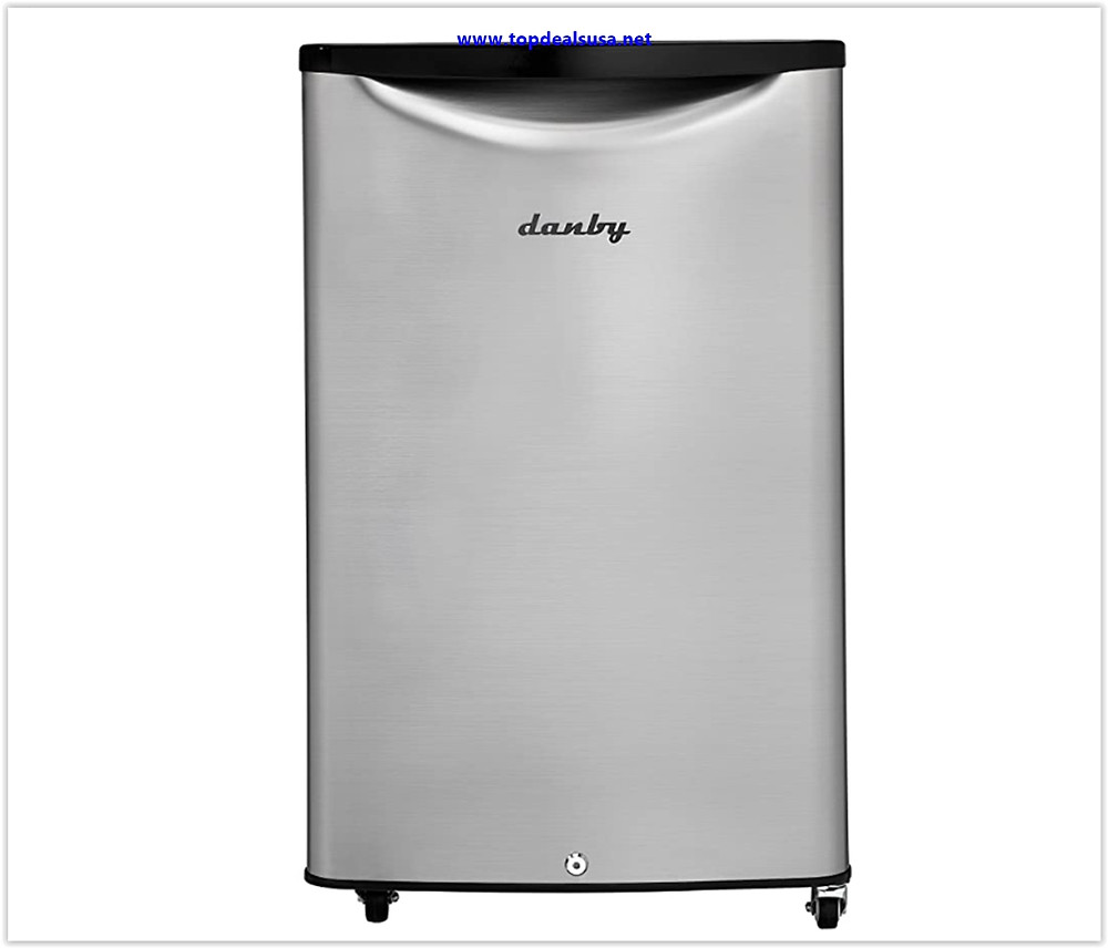 Danby DAR044A6BSLDBO 4.4 Cu.Ft Mini Stainless Look-All Fridge