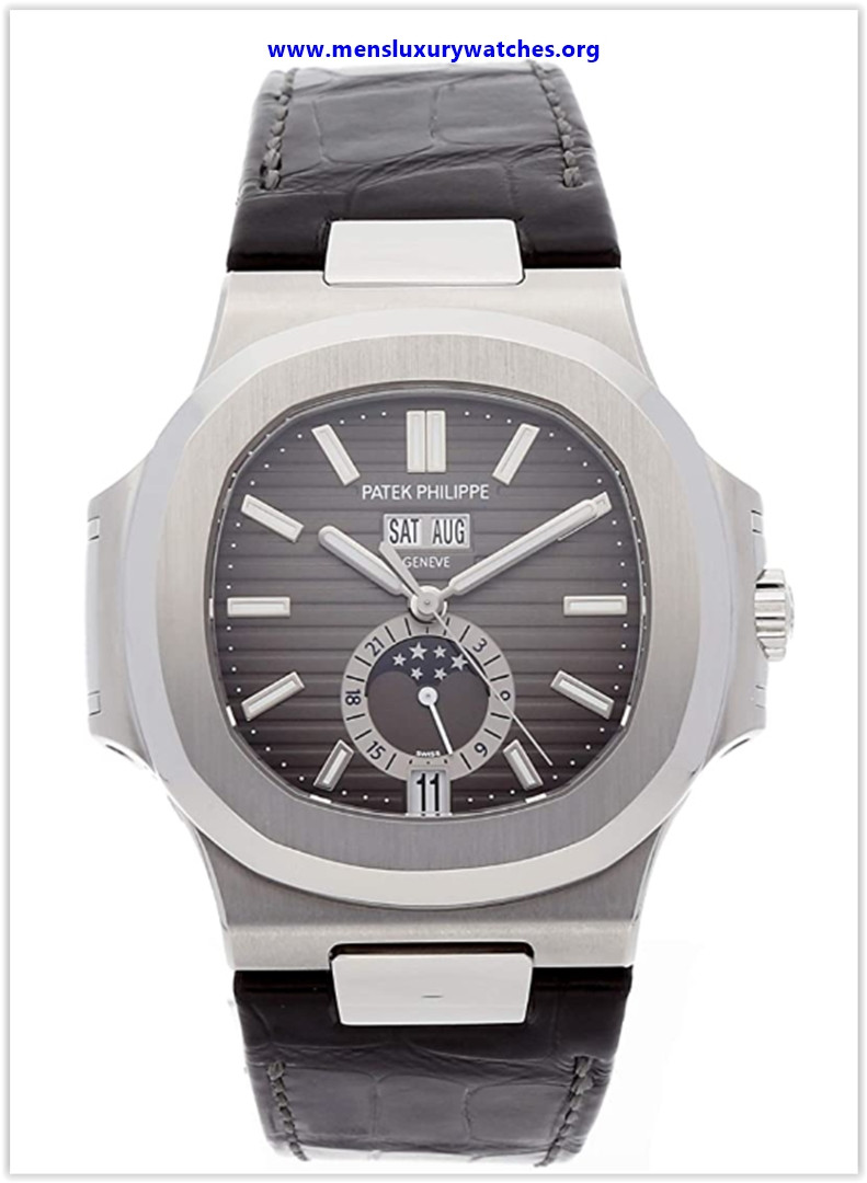 Best buy Patek Philippe Nautilus Automatic GMT Moonphase Black Dial Stainless Steel Men's Watch