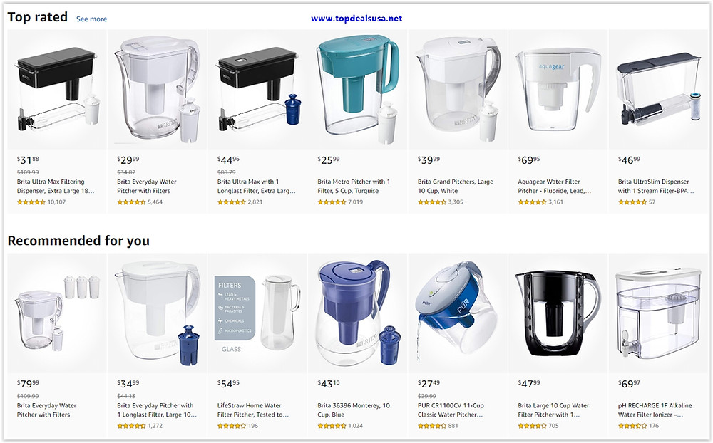 Best Buy Deals for Pitcher Water Filters Up To %50 Discounts