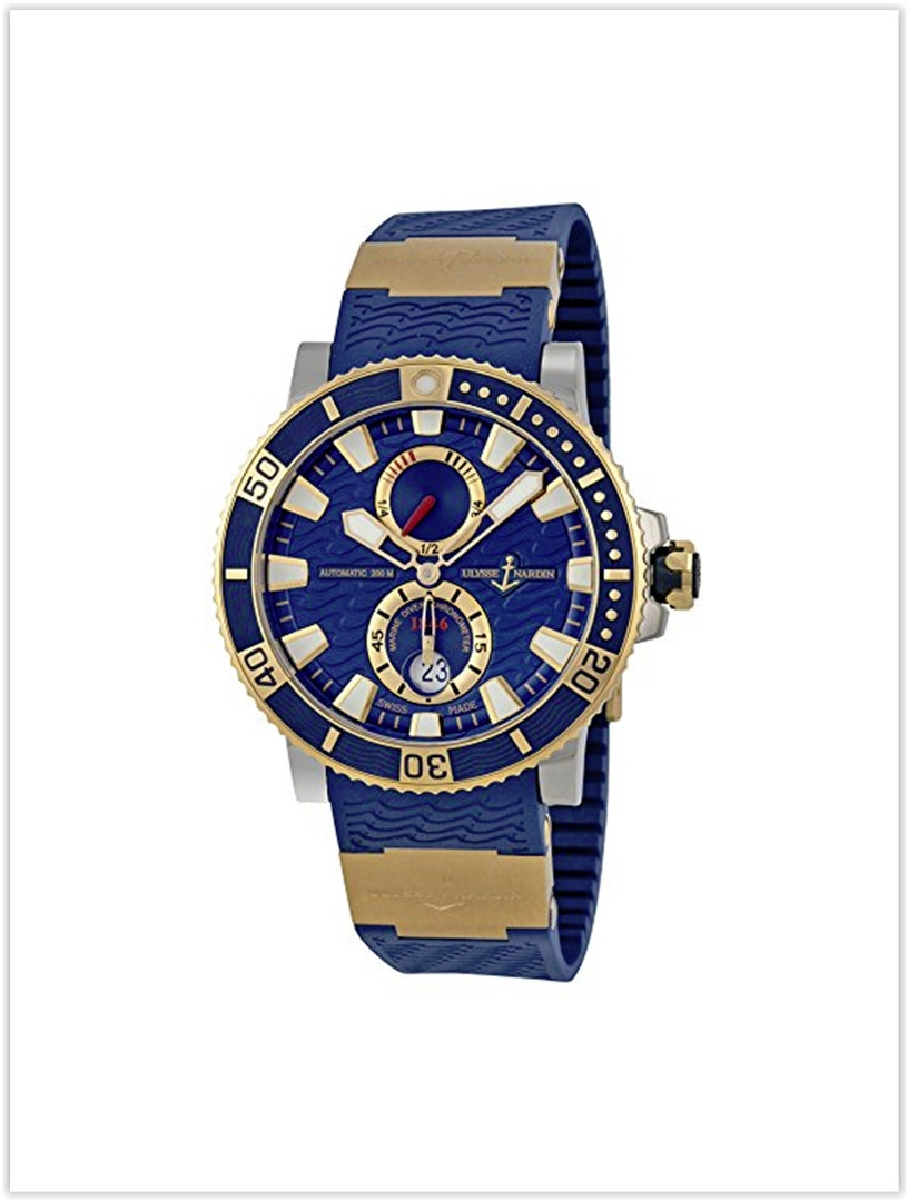 Ulysse Nardin Maxi Marine Diver Blue Dial 18kt Rose Gold Titanium Men's Watch Price