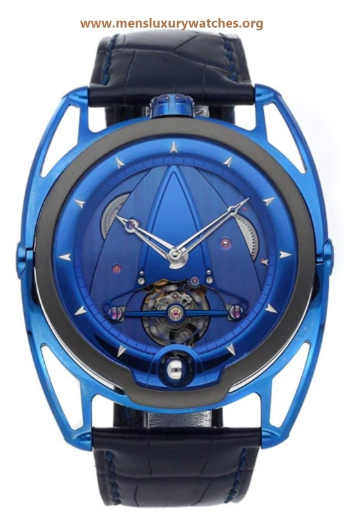 De Bethune DB28 Mechanical (Hand-Winding) Blue Dial Watch DB28T (Pre-Owned)
