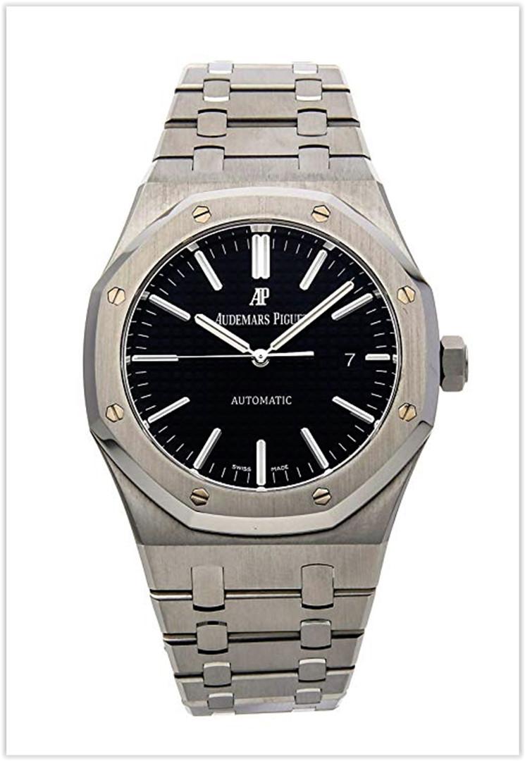 Audemars Piguet Royal Oak Mechanical (Automatic) Black Dial Men's Watch Price