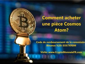 Comment acheter une pièce Cosmos Atom coin?