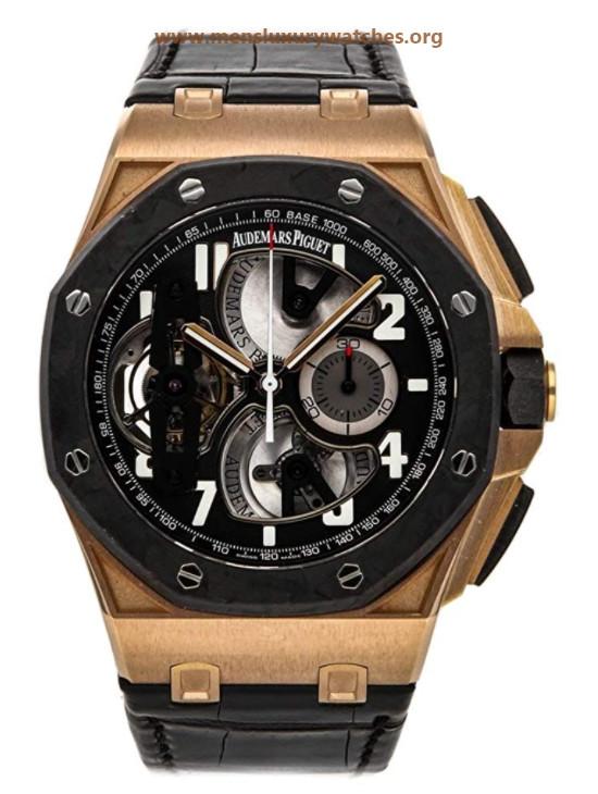 Audemars Piguet Royal Oak Offshore Tourbillon Chronograph Rose Gold Men's Watch