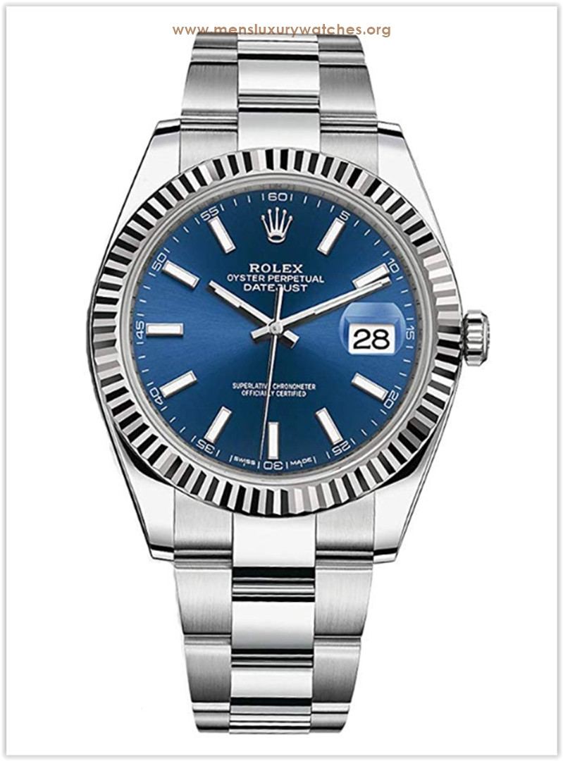 Rolex Datejust 41 Blue Dial Oyster Bracelet Men's Watch the best price