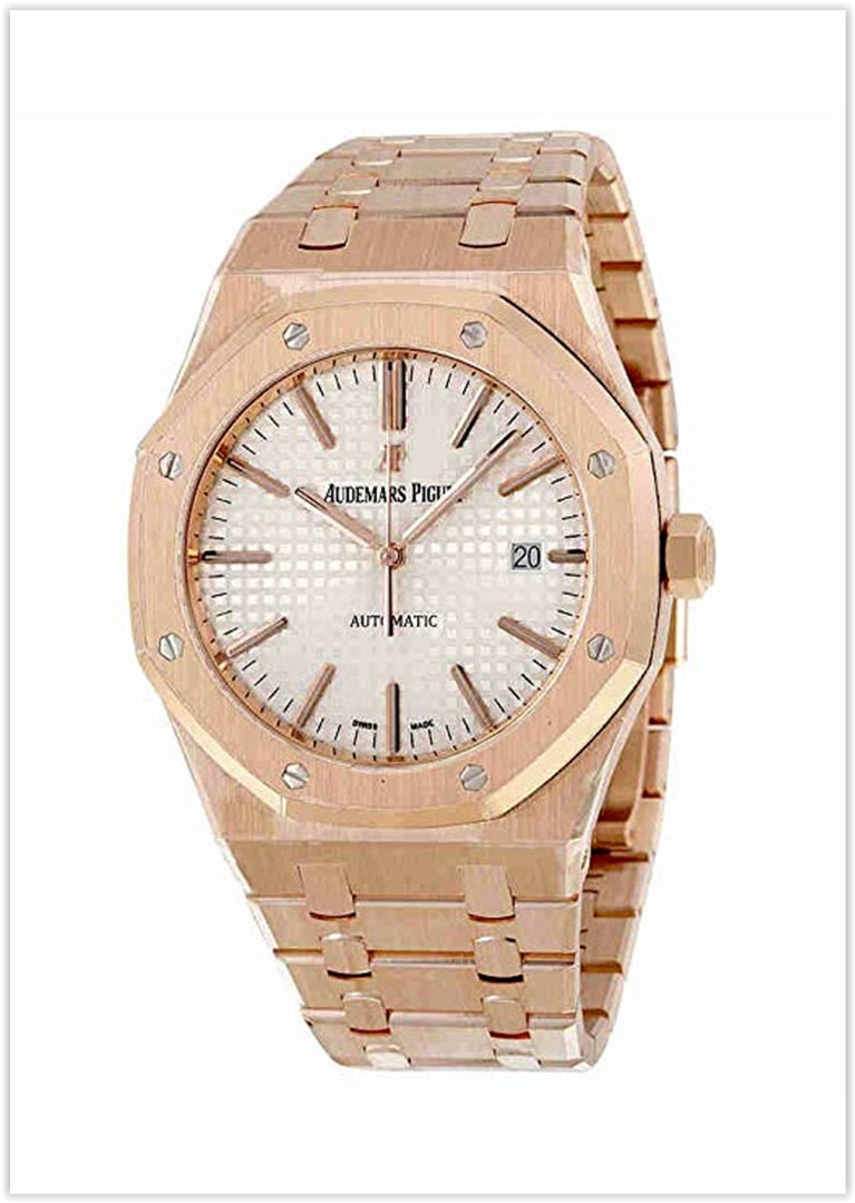 Audemars Piguet Royal Oak Automatic Silver Dial 18kt Rose Gold Men's Watch Price