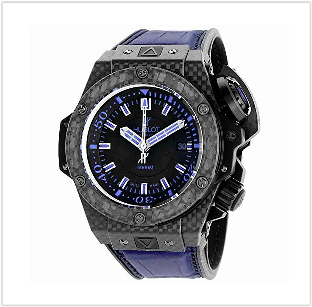 Hublot King Power Oceanographic Black Dial Blue Rubber Mens Watch buy online