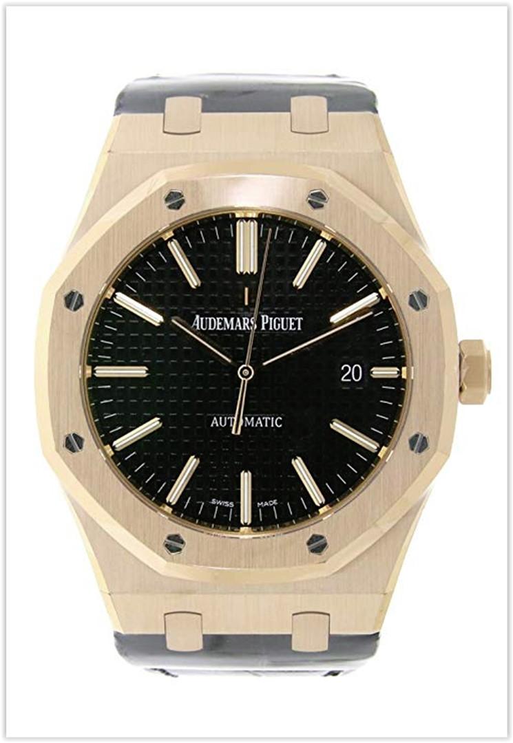 Audemars Piguet Royal Oak Automatic Black Dial Men's Watch Price