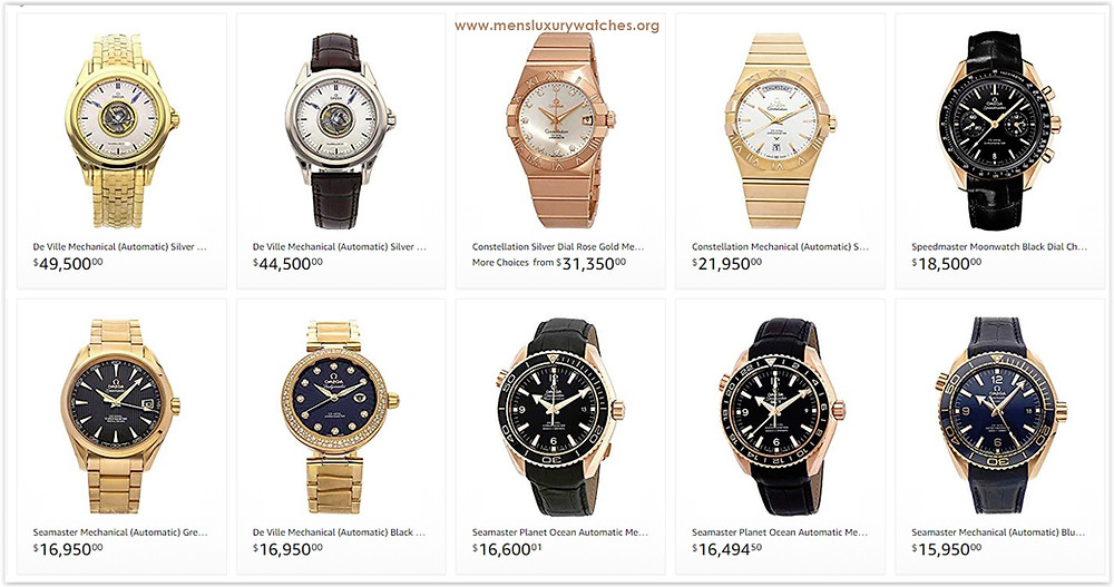 Omega Men's Watches Price List