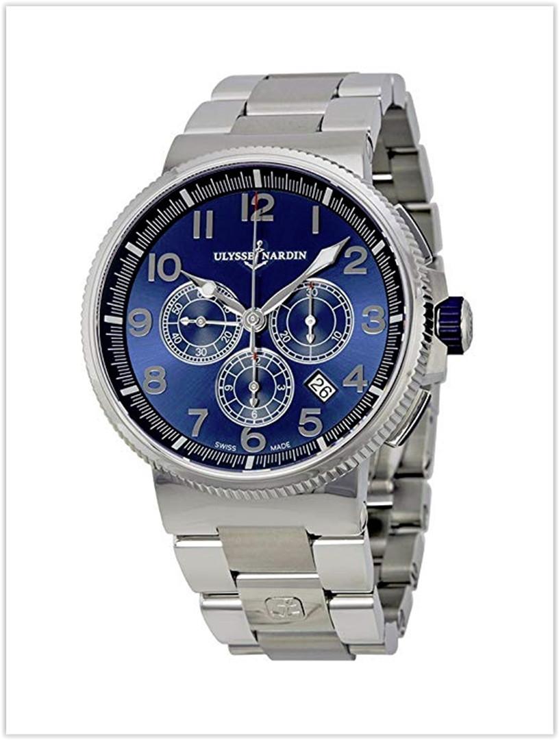 Ulysse Nardin Marine Chronograph Metallic Blue Dial Stainless Steel Men's Watch Price