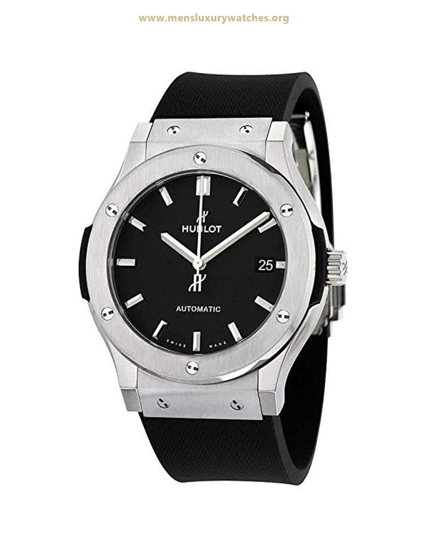 Hublot Classic Fusion Black Dial Black Rubber Mens 45mm Watch Price