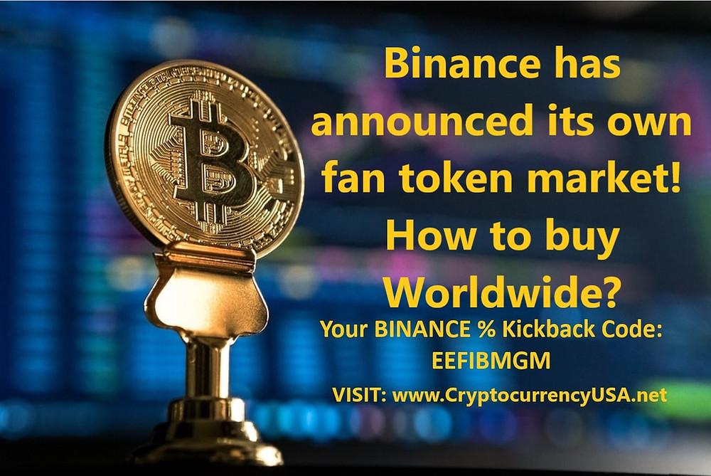 Binance has announced its own fan token market! How to buy Worldwide