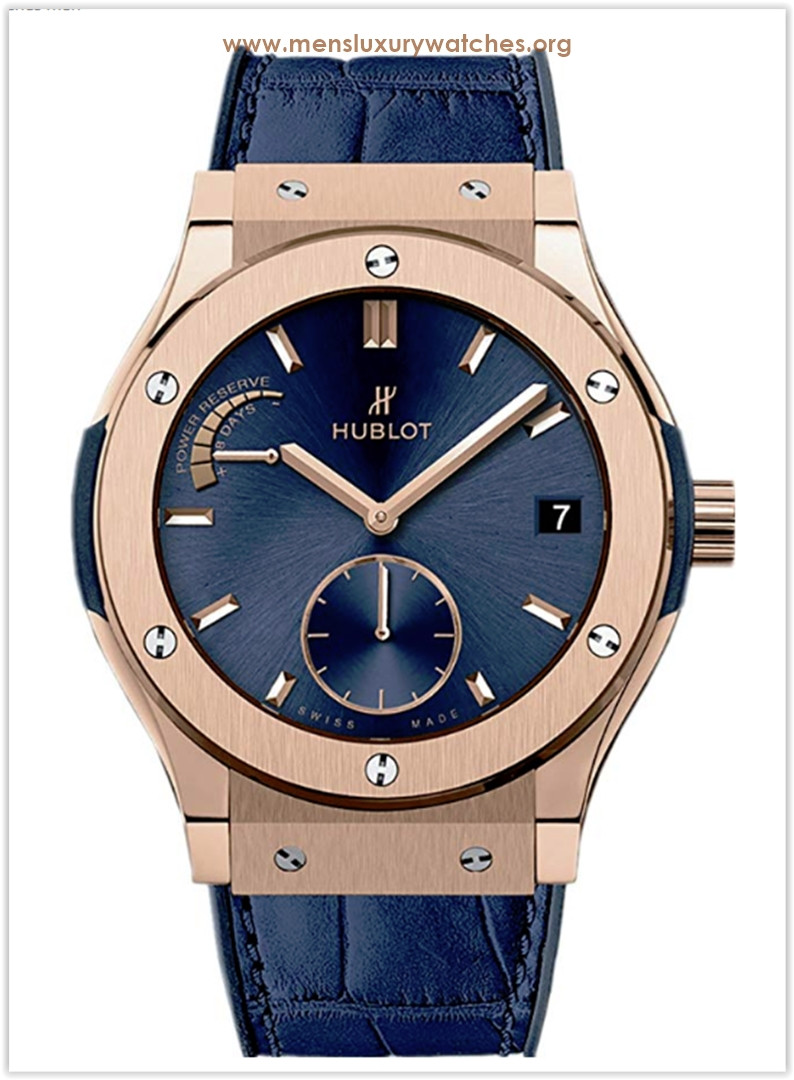 Hublot 18ct Rose Gold Classic Fusion Power Reserve 45mm Mens Watch Price