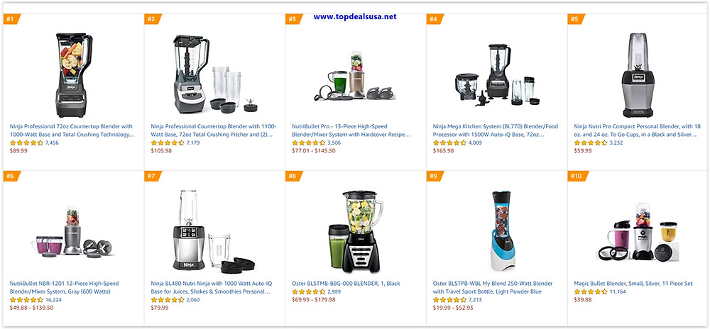 Top 10 Blender Deals
