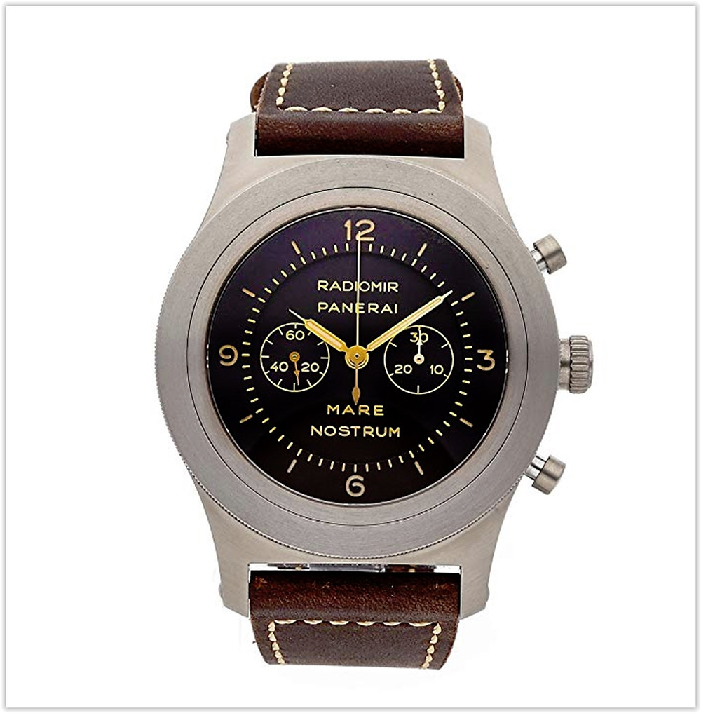 Black friday deals Panerai Mare Nostrum Mechanical Black Dial Men's Watch
