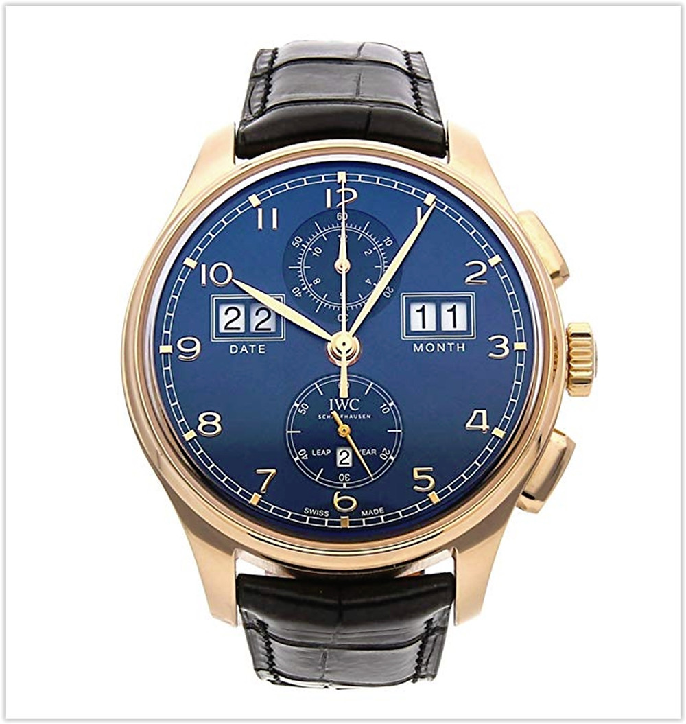 IWC Portugieser Mechanical (Automatic) Blue Dial Men's Watch best price