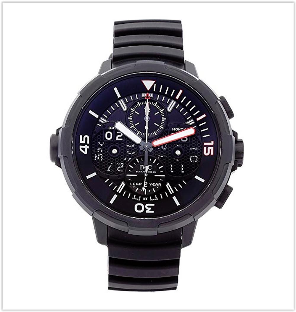 IWC Aquatimer Mechanical (Automatic) Black Dial Men's Watch best price
