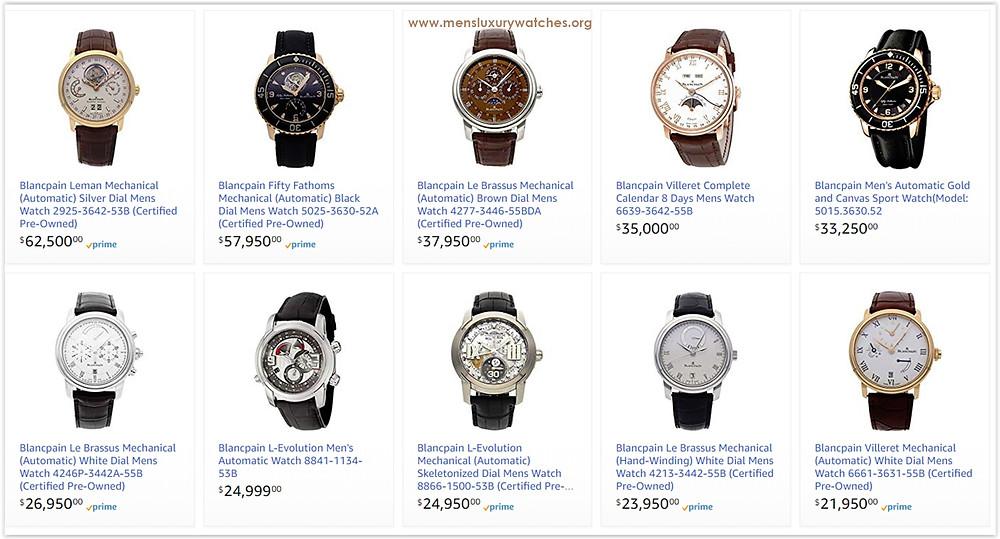 Blancpain Men's Watches Price List, Blancpain online store