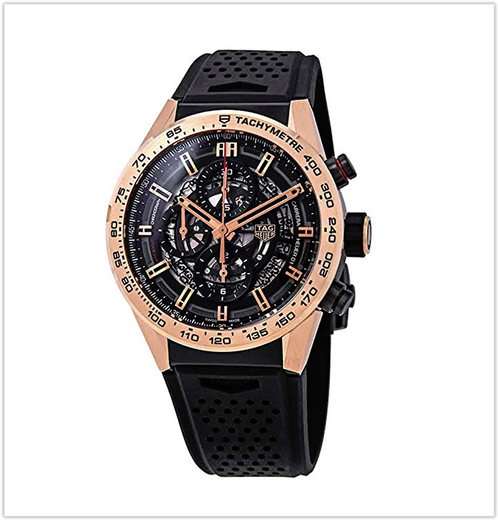 Tag Heuer Carrera Chronograph Automatic Black Skeleton Dial Men's Watch best price