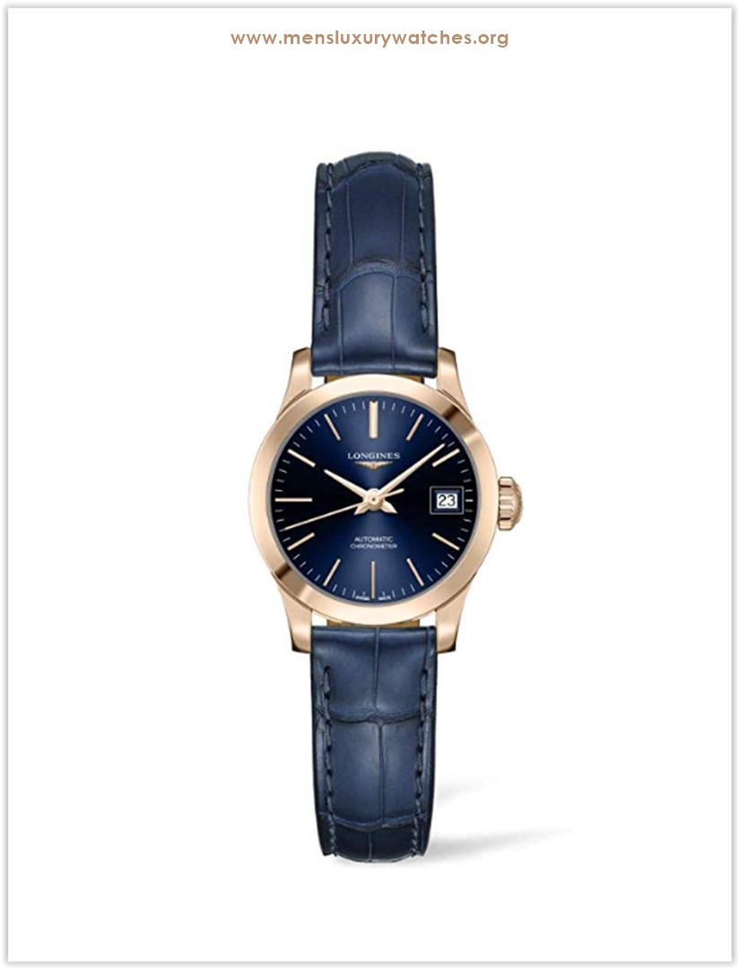 Longines Record Blue Leather Men's Watch the best price