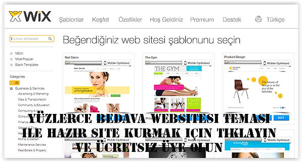 wix website temaları