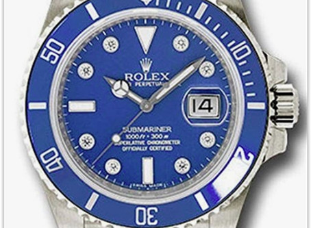 Rolex Oyster Perpetual 40MM 18K White Gold Submariner Date Blue best price
