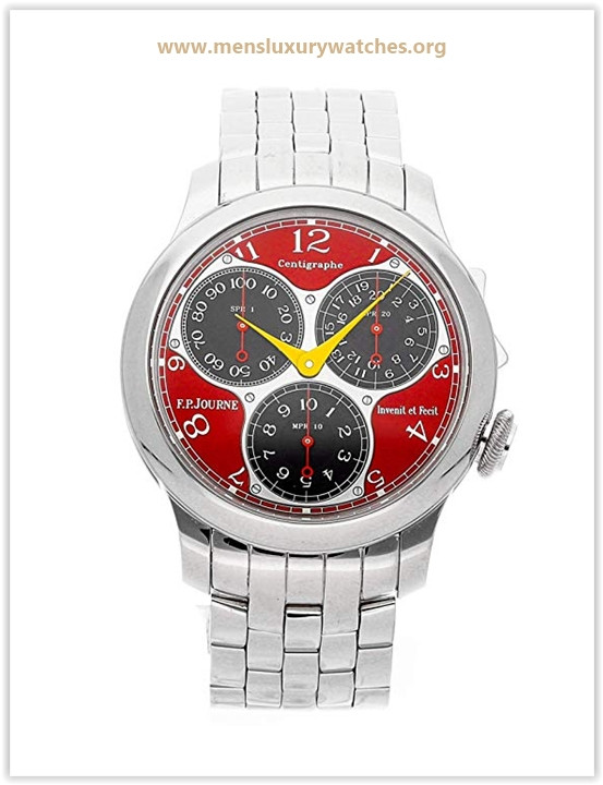 F.P. Journe Centigraphe Mechanical (Hand-Winding) Red Dial Mens Watch Centigraphe Souverain Price May 2019